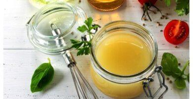 Aderezo Ligero de Ensalada de Aceite de Oliva y Limón