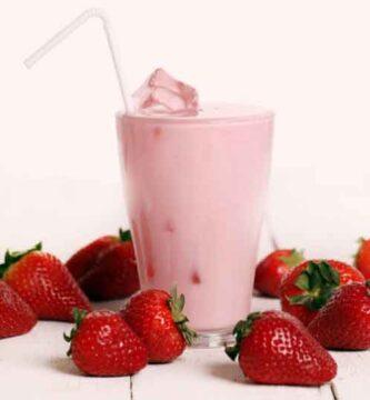 Beber Batido de Fresa para Bajar de Peso